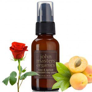 John Masters Organics Krem na dzień z różą, morelą i przeciwutleniaczami
