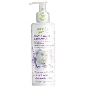 Essential Care Płyn do mycia ciała i włosów dla niemowląt 200 ml