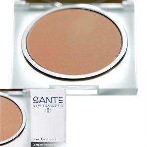 Ekologiczny puder w kompakcie 03 Golden Beige Sante