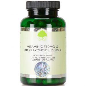 GG Witamina C 750 mg z bioflawonoidami 120 kaps.