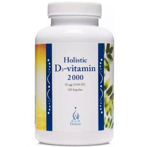Holistic D3-vitamin 2000 IE 180 kapsułe