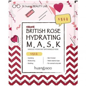 Huangjisoo British Rose Nawilżająca maska do twarzy w płachcie