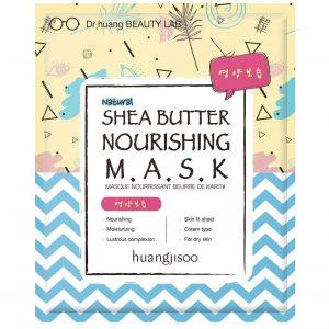 Huangjisoo Shea Butter maska do twarzy w płachcie odżywczo-nawilżająca