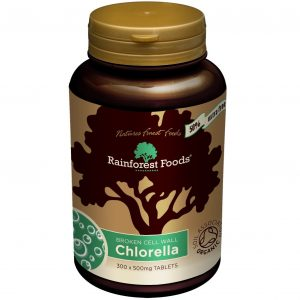 Rainforest Foods Chlorella Bio 500 mg 300 tabletek