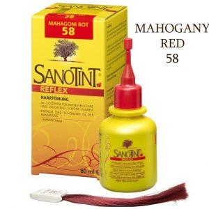Sanotint szampon koloryzujący Mahogany Red 58 Reflex