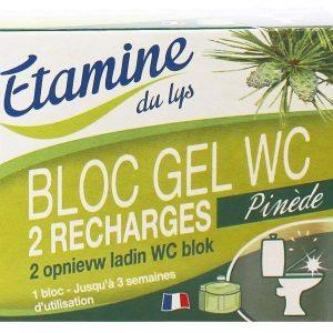 EDL Wkłady wymienne do WC z żelem oczyszczającym sosna i eukaliptus