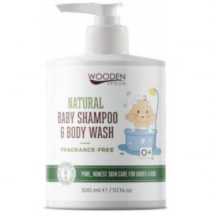 Wooden Spoon Bezzapachowy szampon i płyn do mycia dzieci i niemowląt