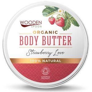 Wooden Spoon organiczne masło do ciała Strawberry Love