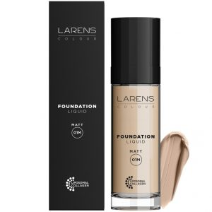 Larens Colour Liquid Foundation Matt Ciepły light 01M Larens 30 ml