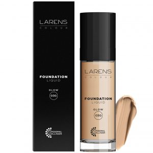 Larens Colour Liquid Foundation Glow Ciepły Dark 03G 30 ml