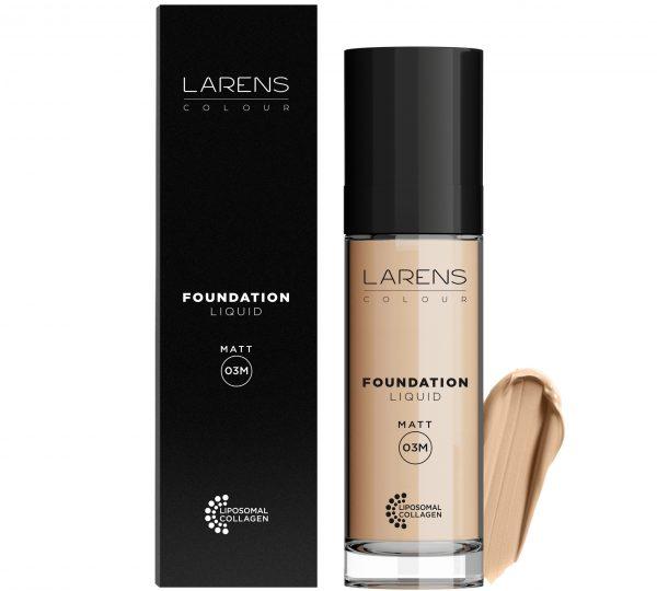 Larens Colour Liquid Foundation Matt Ciepły Dark 03M 30 ml